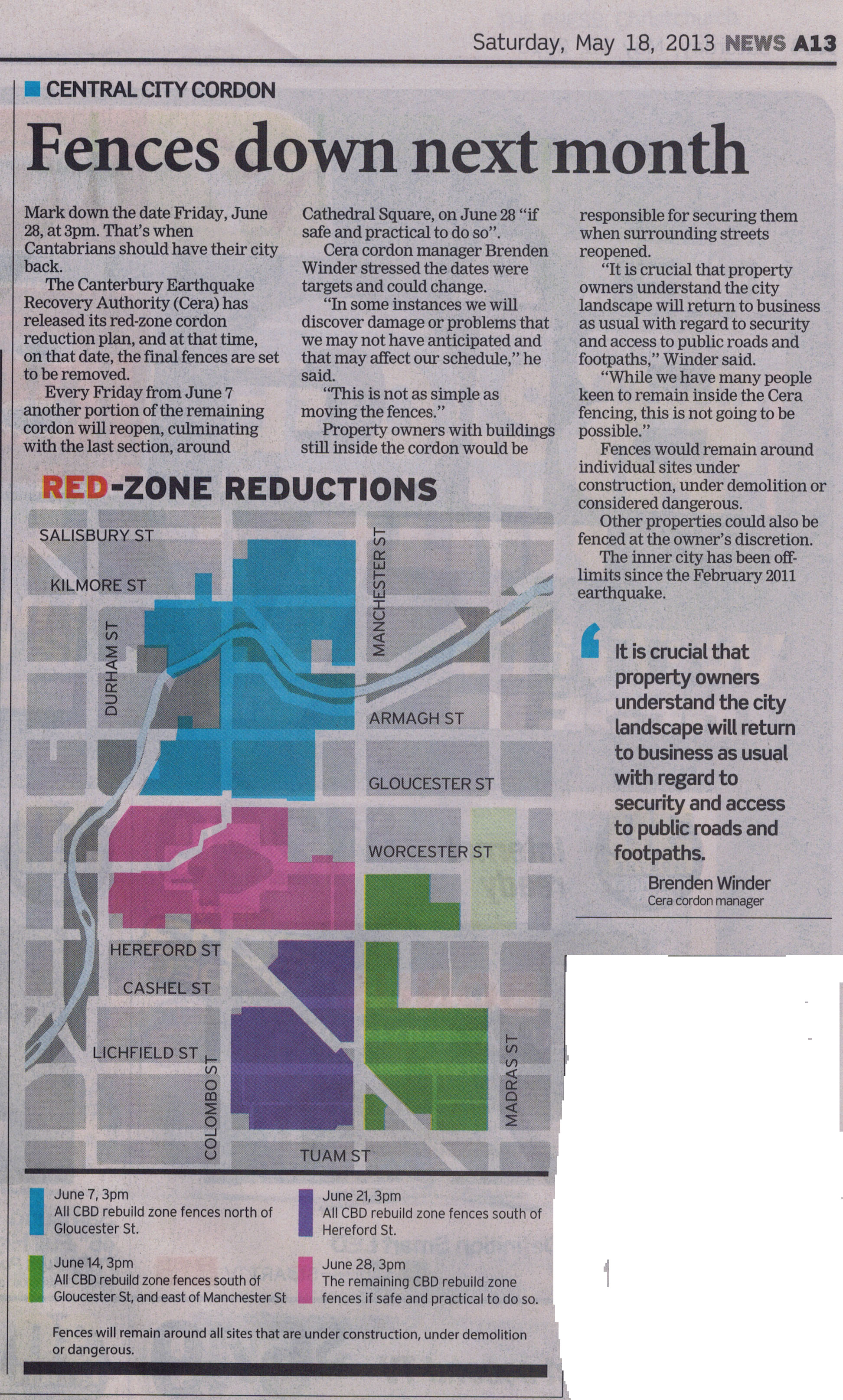 Lifting the Red Zone Cordons….. What does it mean for us ...