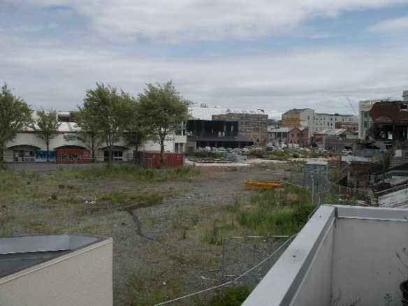 The Black building in the right back of the photo is the EPIC centre, the supposed heart of Innovation in Christchurch.